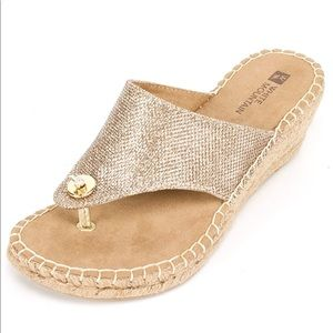 White Mountain Gold Sandal SZ 7.5